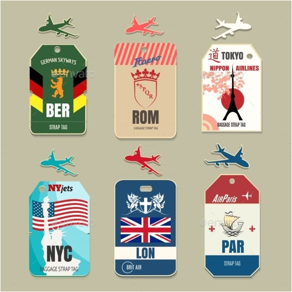 Airline Luggage Tag Template Luggage Tag Template Free Psd Templates Download Free