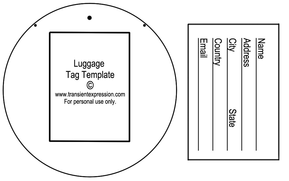 Airline Luggage Tag Template Luggage Tag Template Luggage Tags All form Templates