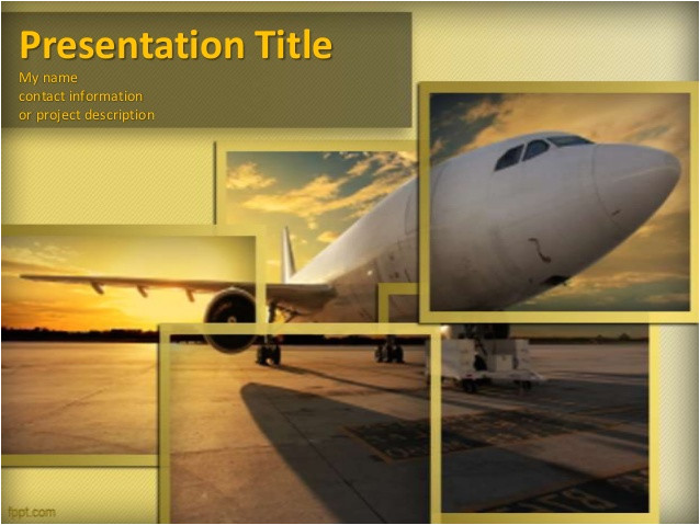 aircraft powerpoint template and powerpoint background with airplane