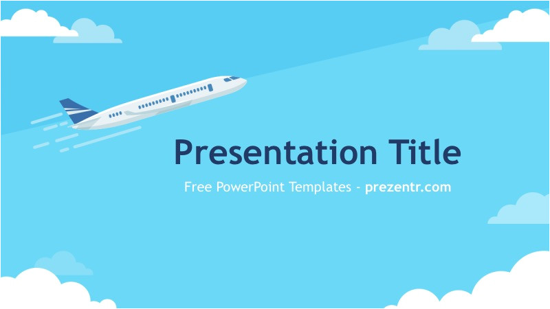 Airplane Ppt Template Free Aviation Powerpoint Template Prezentr Ppt Templates