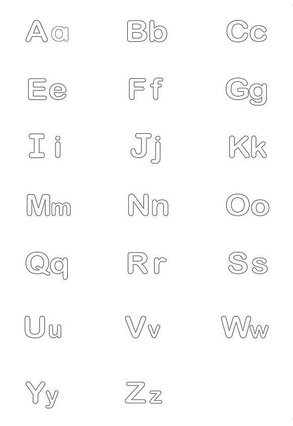 alphabet bubble letter
