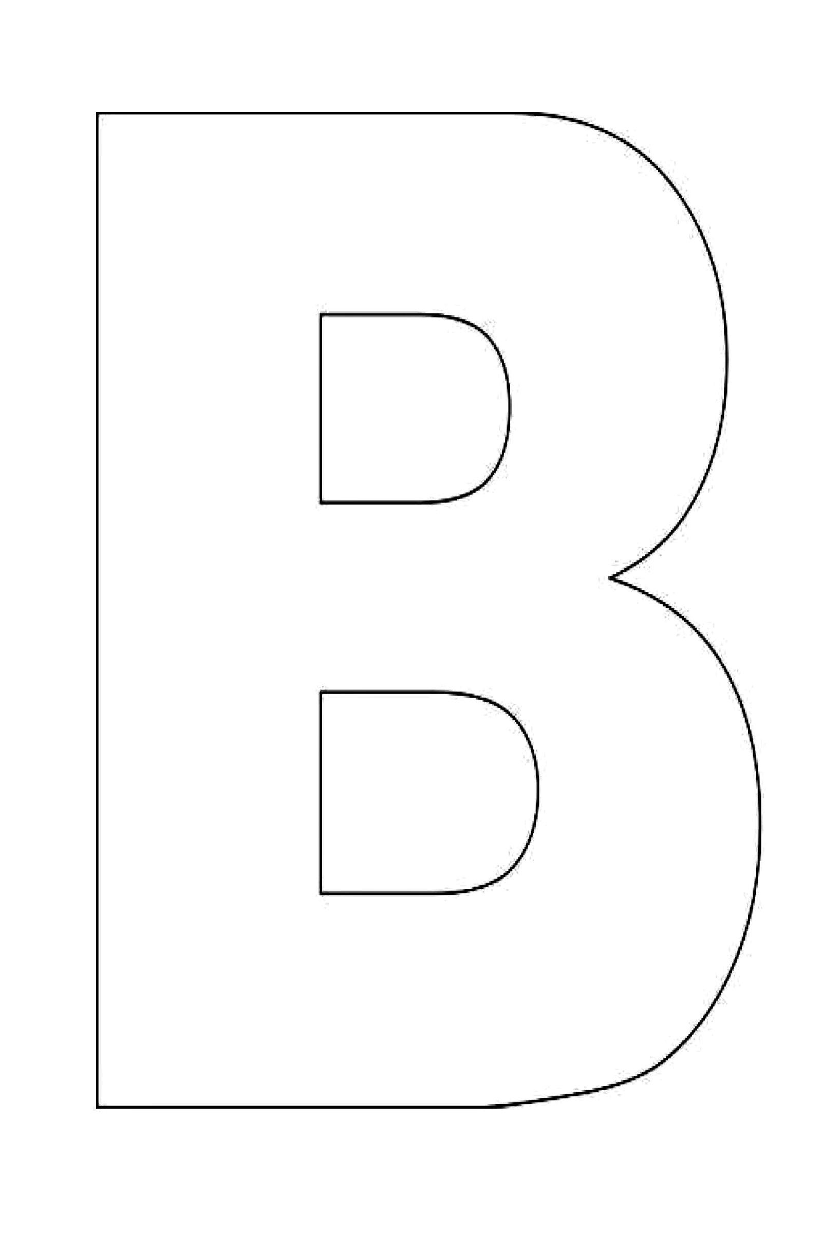 alphabet letter template for kids