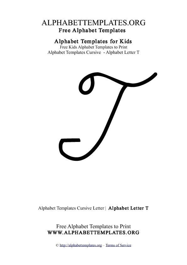 cursive capital letter t
