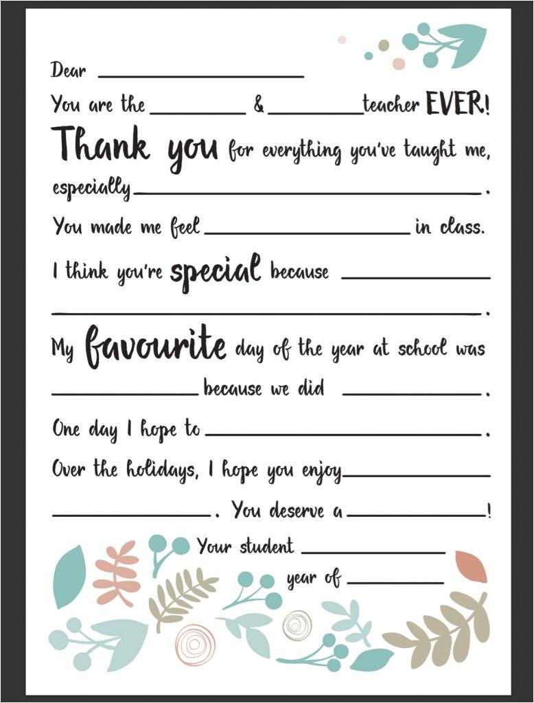 Alphabet Letter Templates for Teachers Dear Teacher Letter Be A Fun Mum
