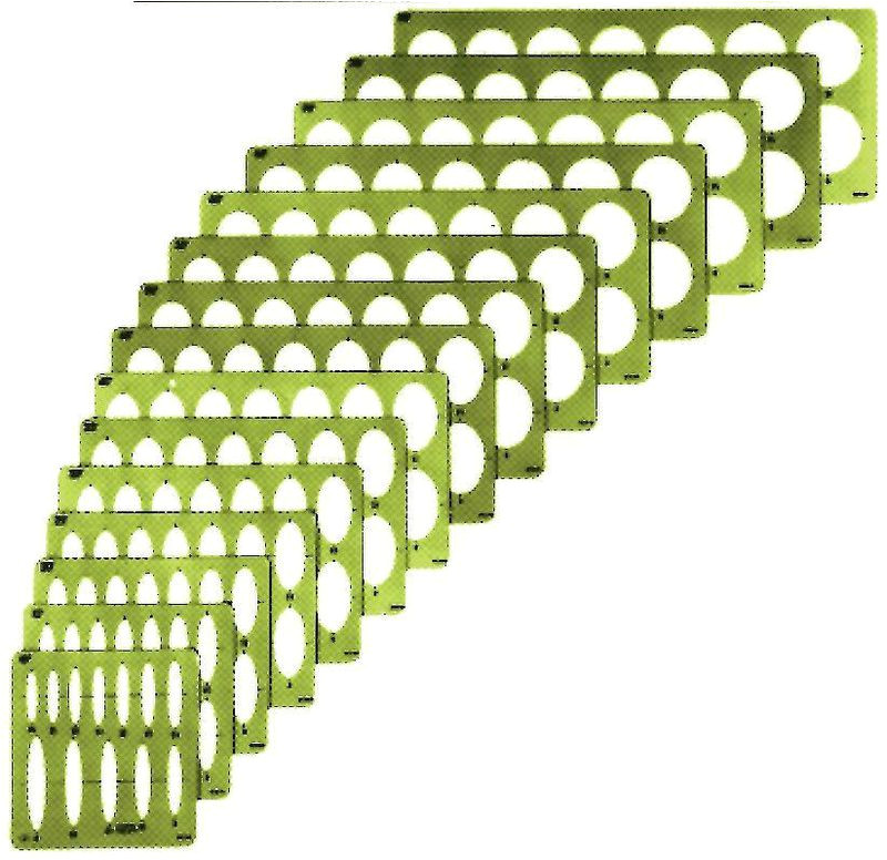 alvin r large series ellipse template set of 15 15 pack 2 1 8 4 model 3903 02 price per set