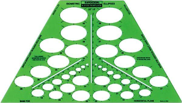 template isometric ellipse p 47109