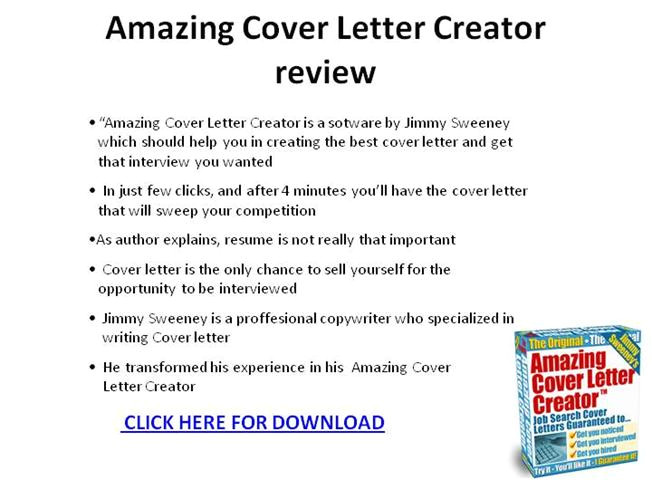 Amazing Cover Letter Creator Review Amazing Cover Letter Creator Review Ppt Presentation