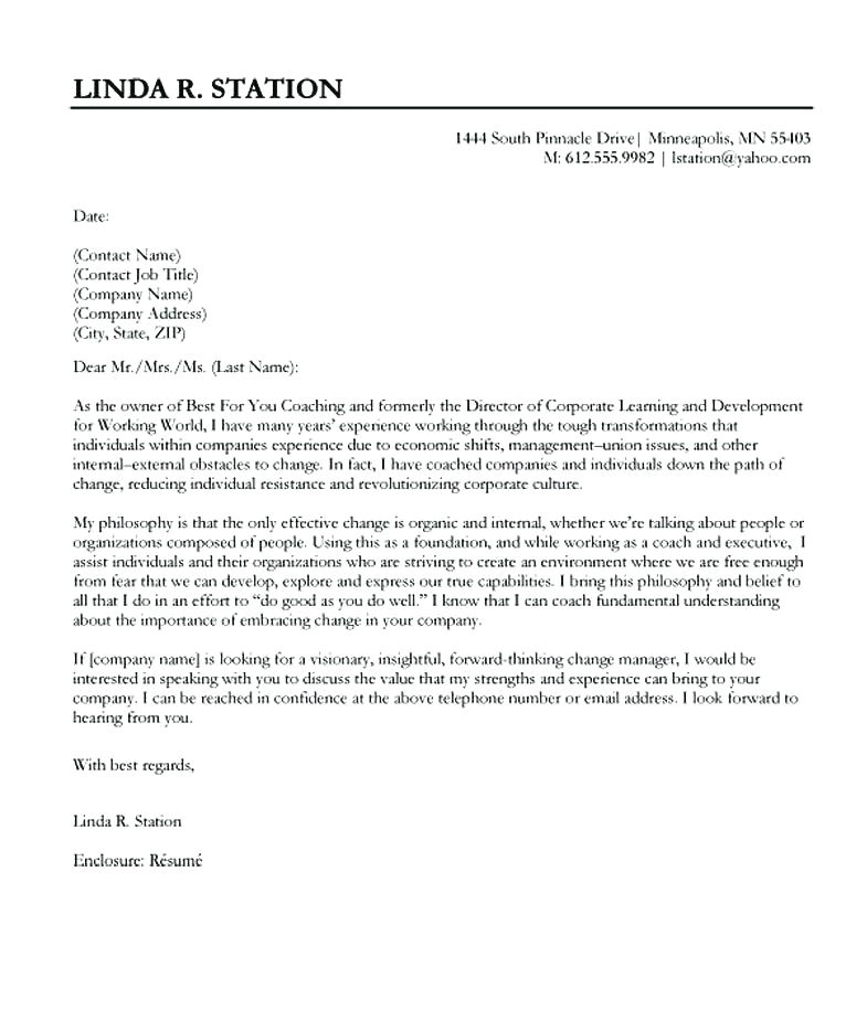 jimmy sweeney cover letters review
