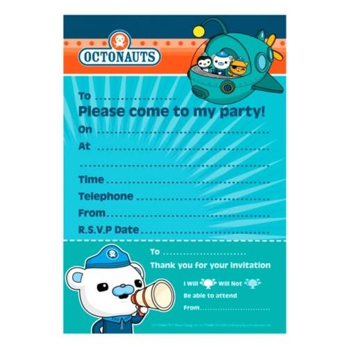 octonauts invitation pad pk20 14179 p