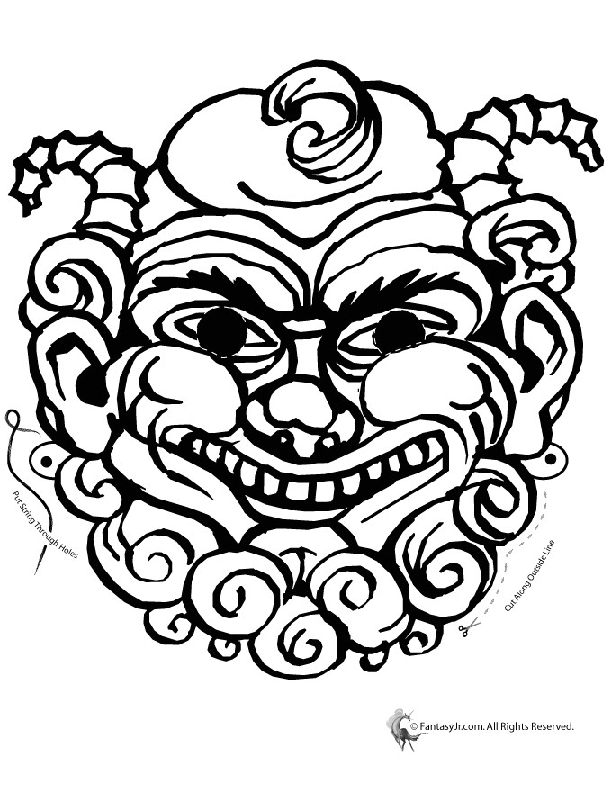Ancient Greek Mask Template Greek Mythical Creature Mask Coloring Page Woo Jr Kids