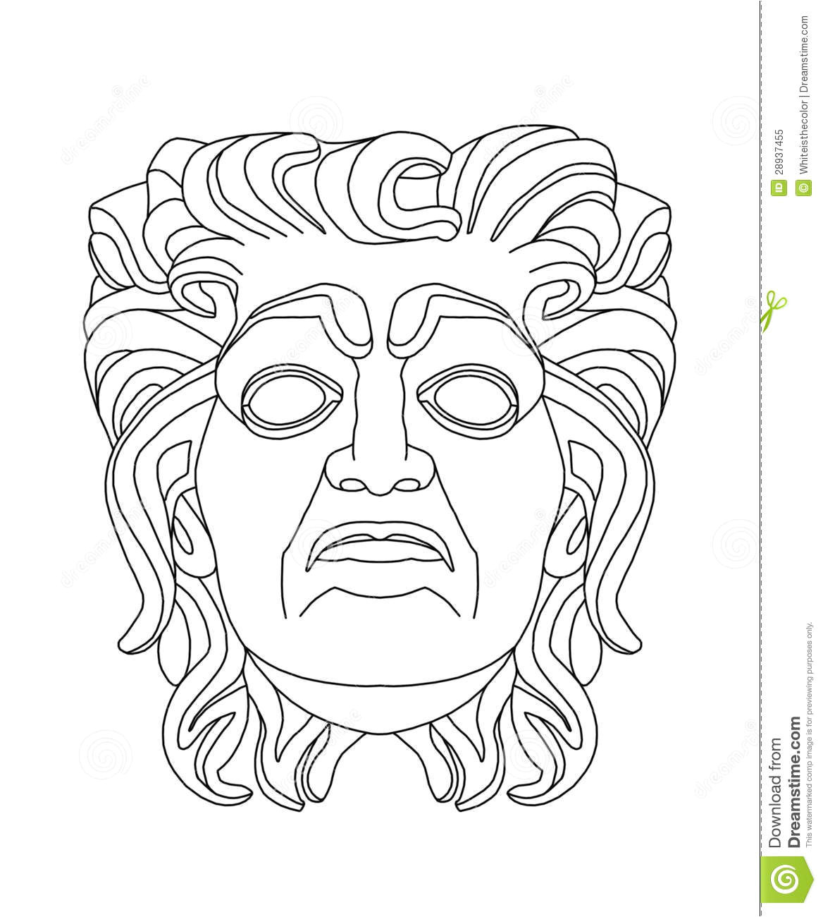 royalty free stock photo greek theatrical mask old man image28937455