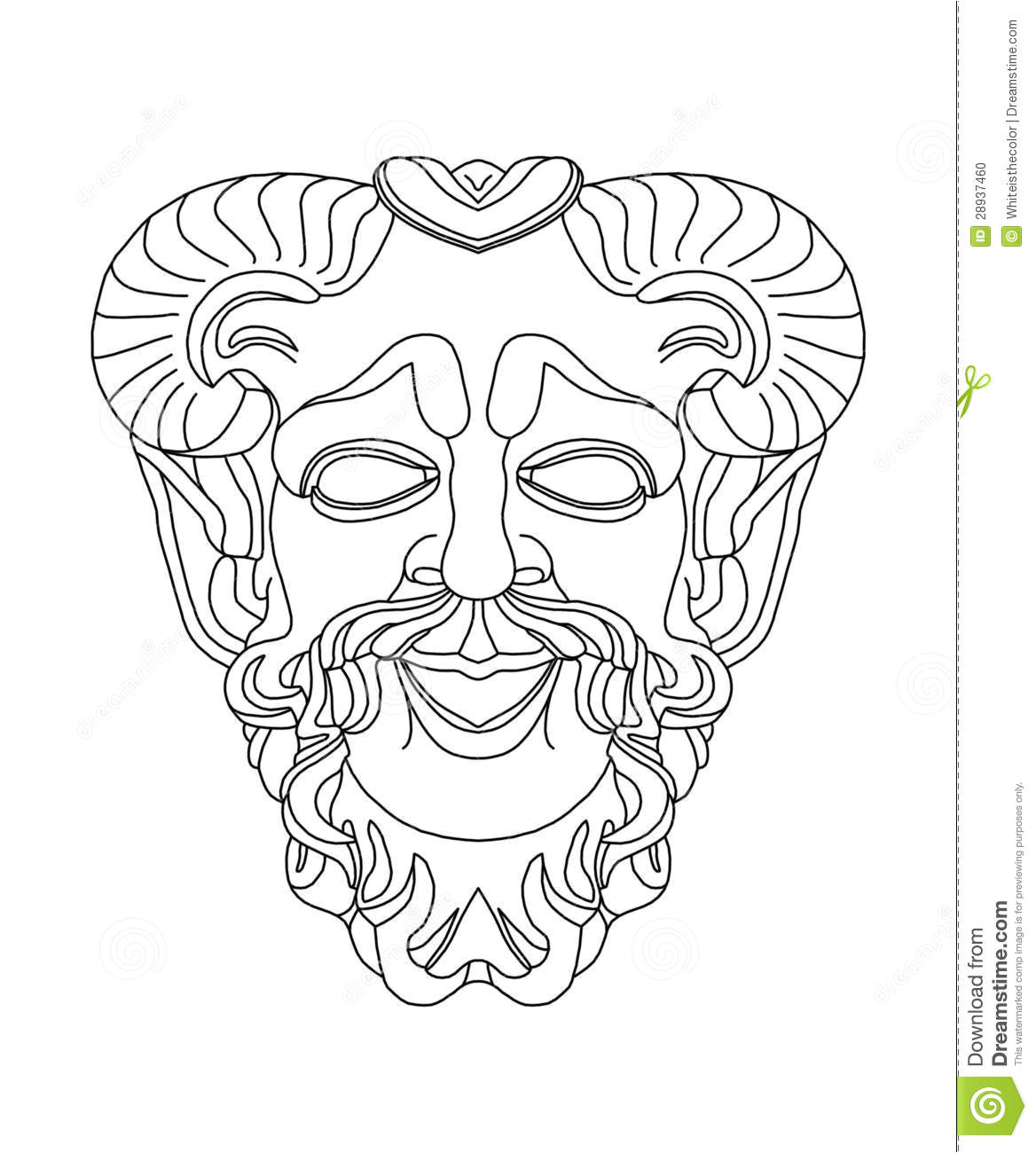 stock photo greek theatrical mask satyr image28937460