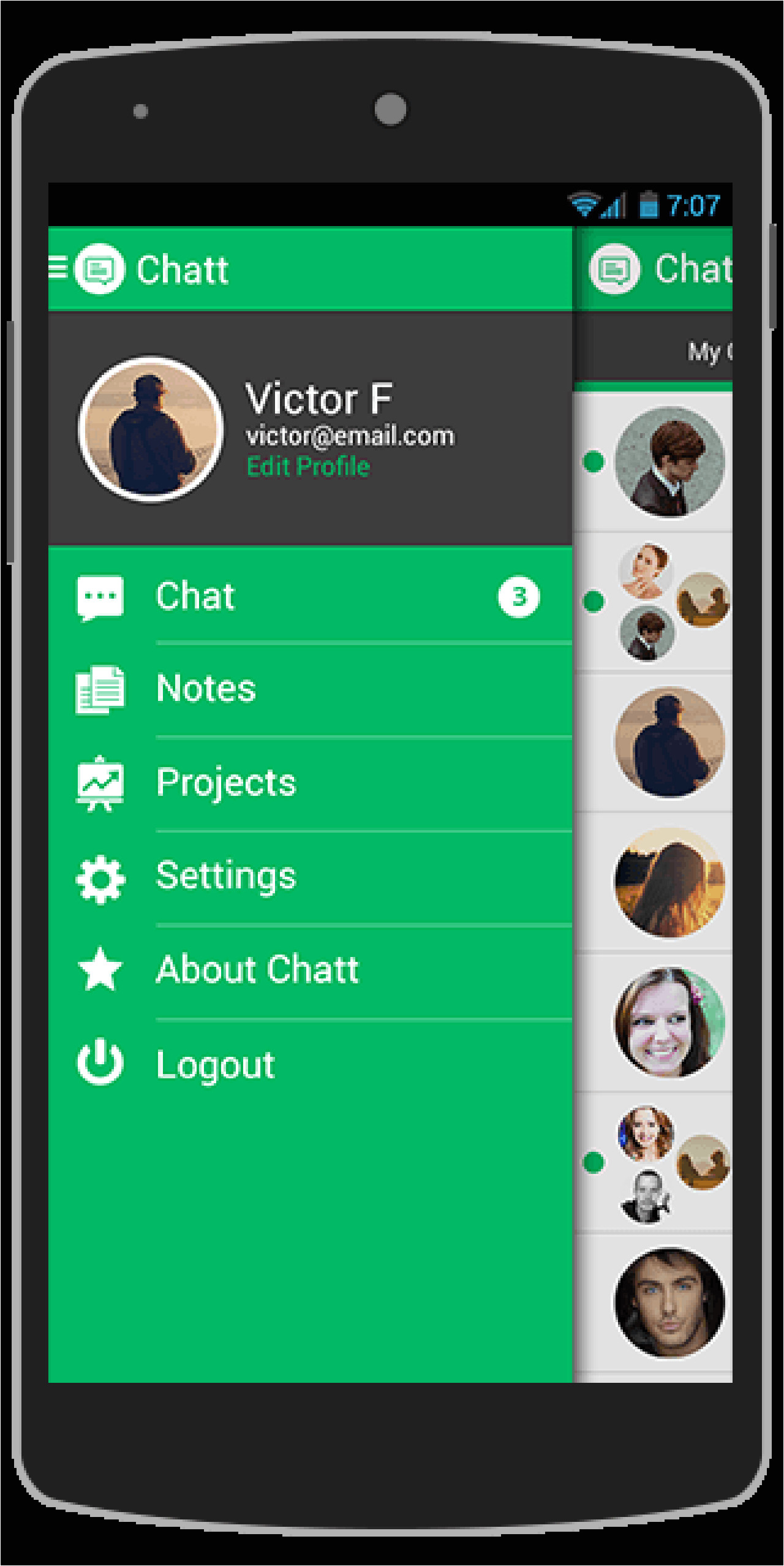 chatt android app template 2769