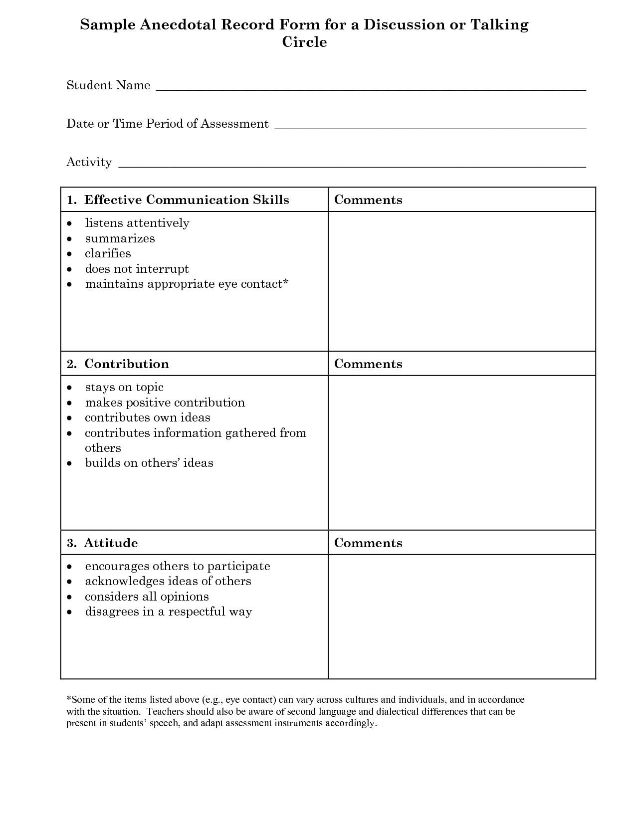 post preschool communication observation form 133949