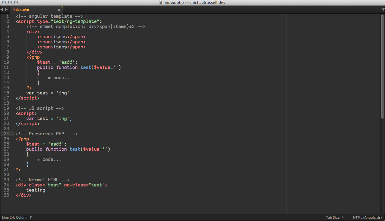angularjs sublime package