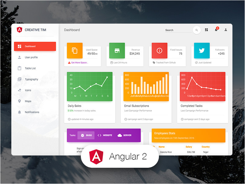 free angular templates