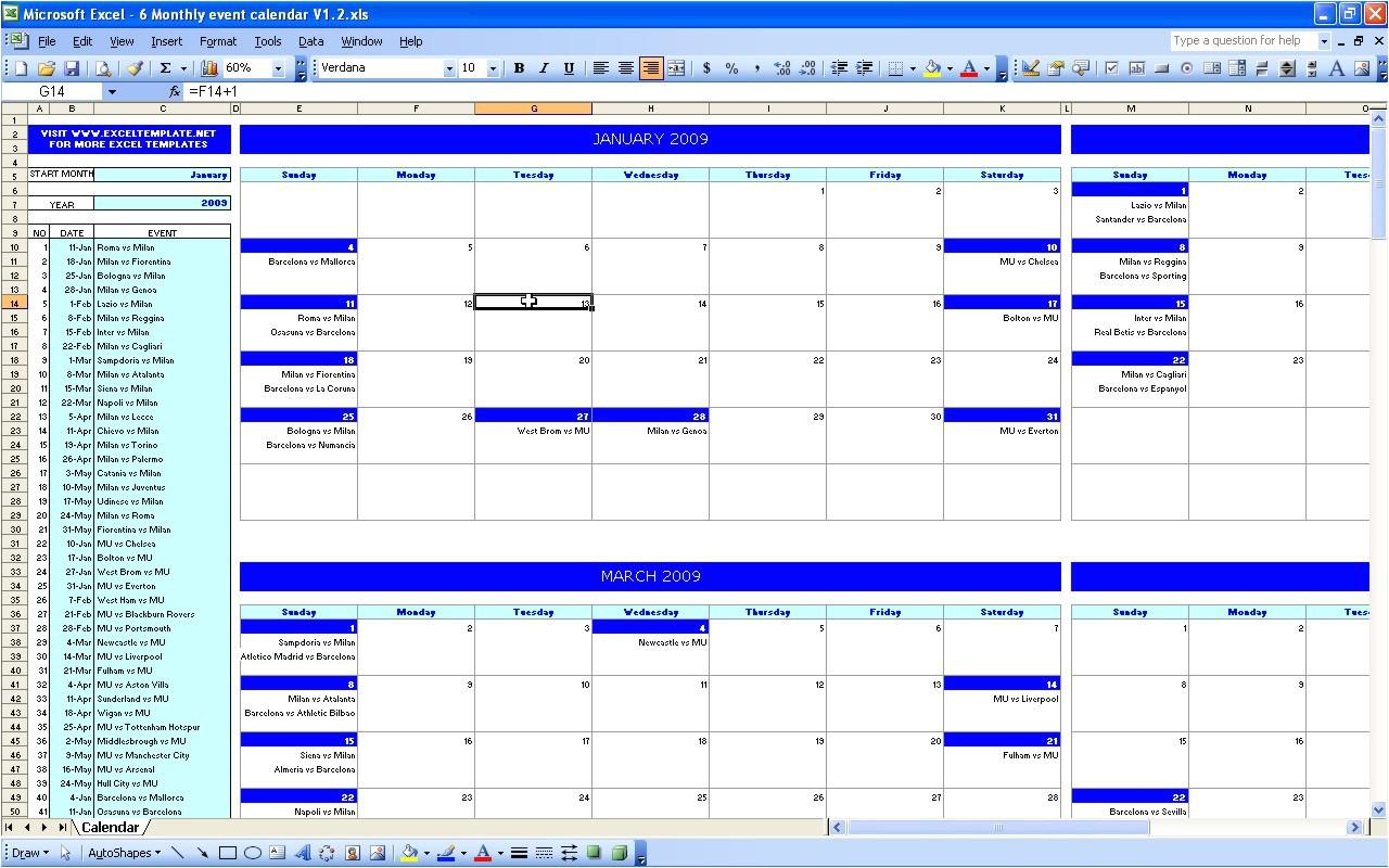event calendar excel template 278