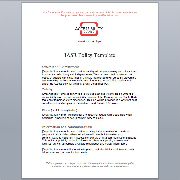 iasr policy template
