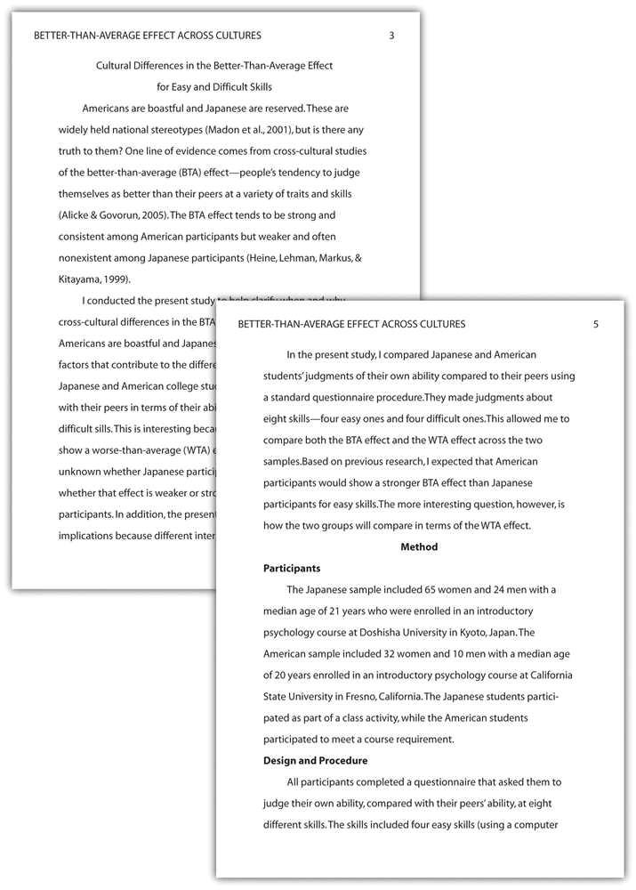 paper written in apa