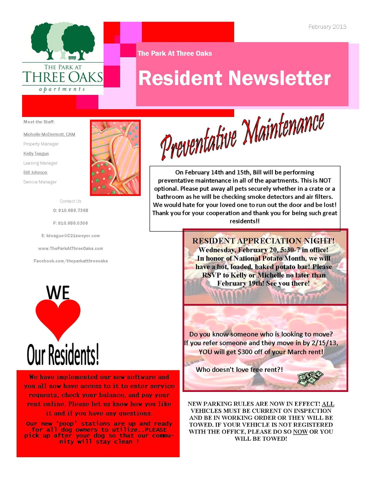 apartment newsletter ideas