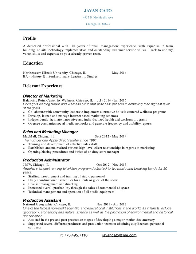 sample resume for apple store