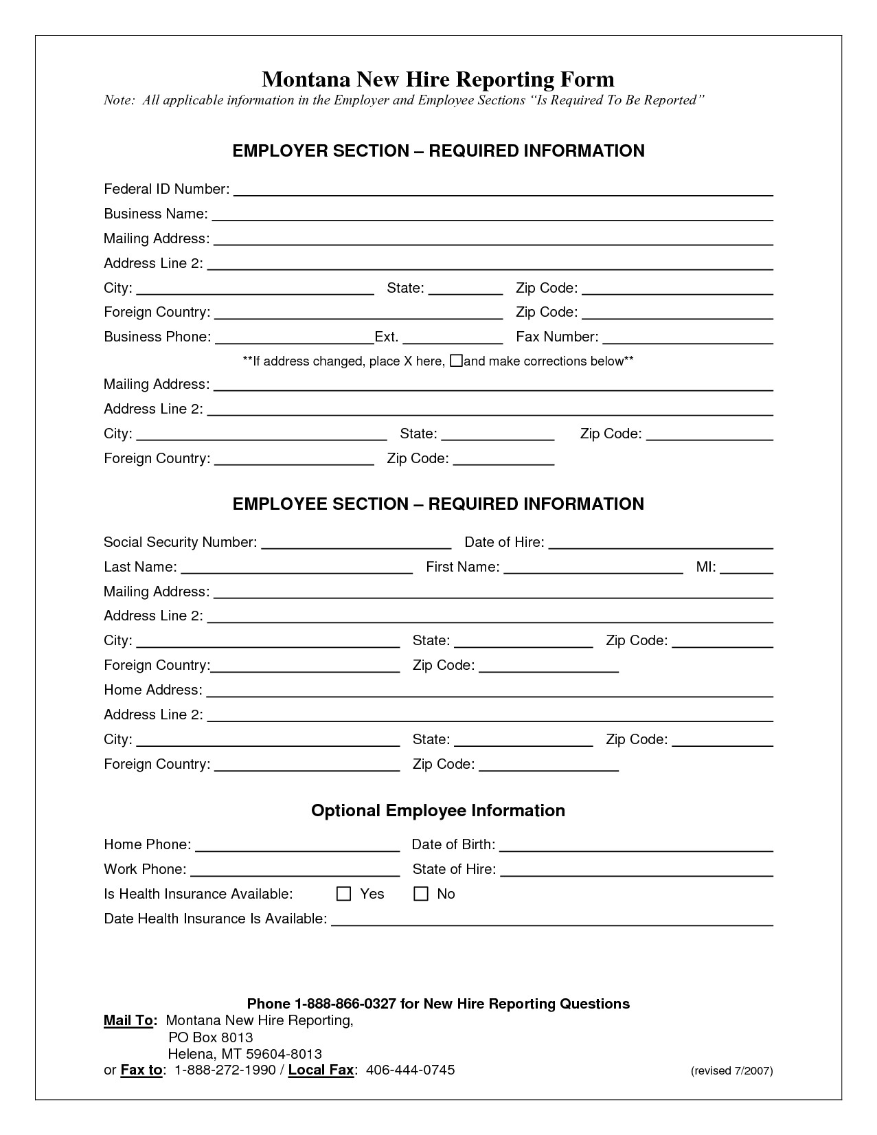 6 new hire application form template