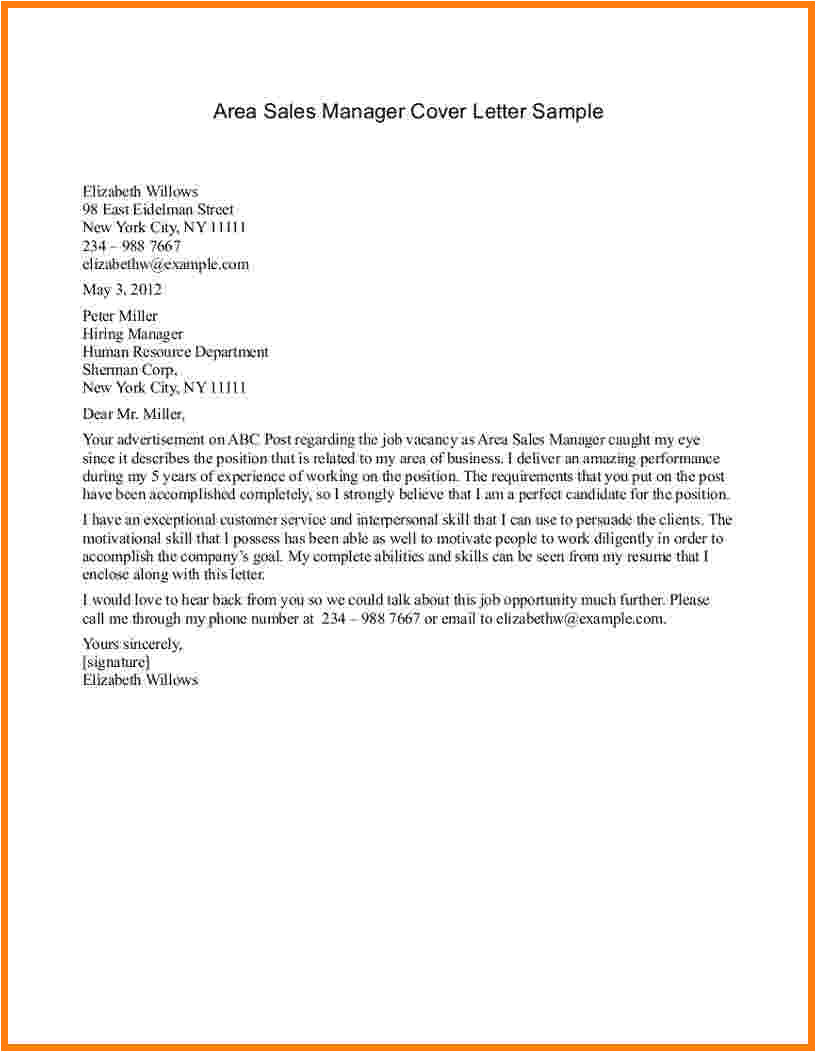 9 job application letter for sales manager