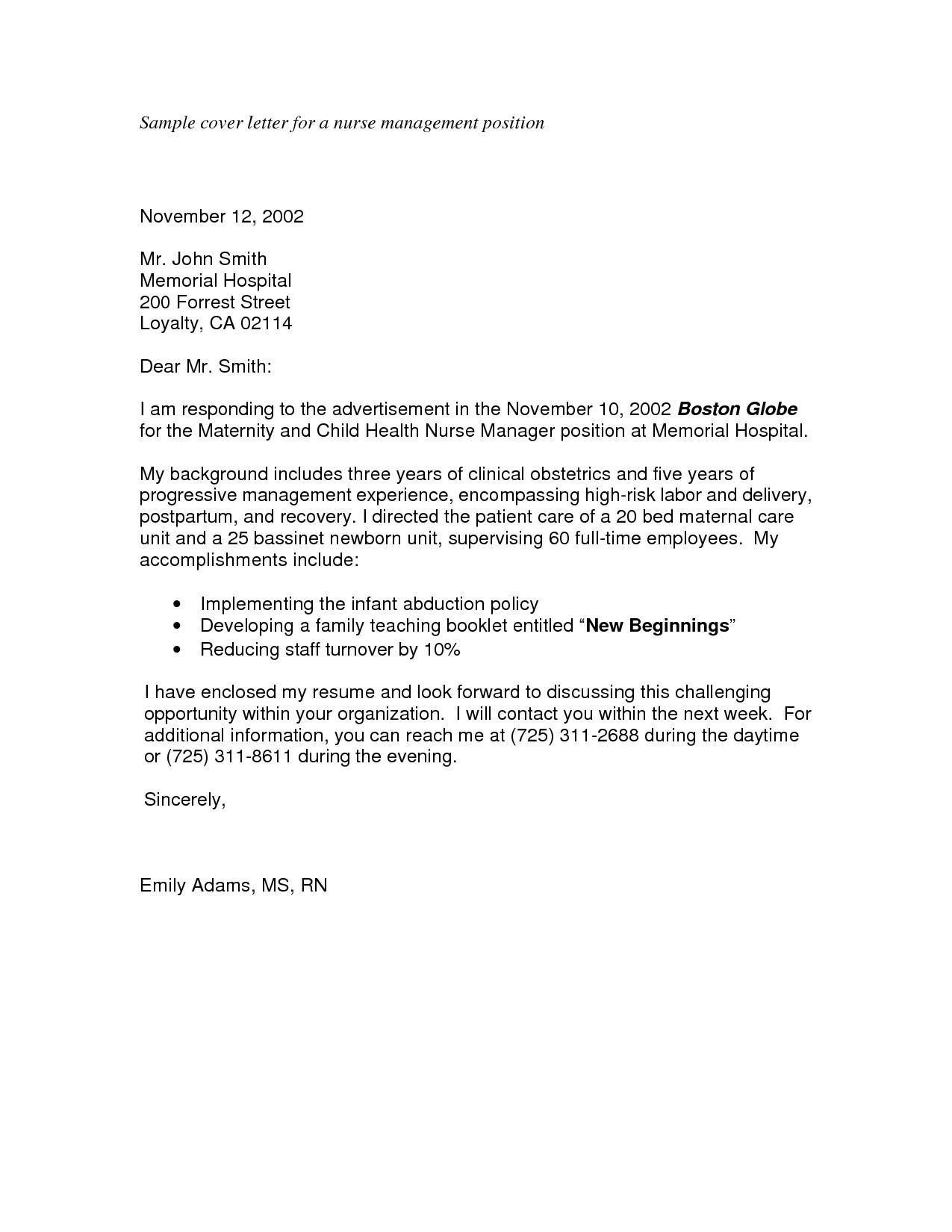 sample cover letter for applying a job 3361