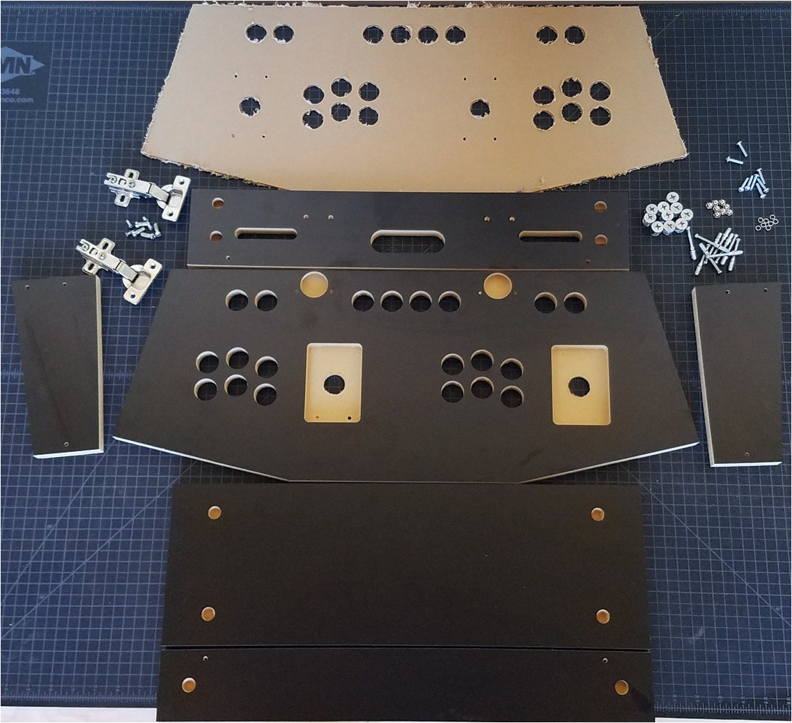Arcade Control Panel Template Arcade Control Panel Cam Lock Graphics Control Kit
