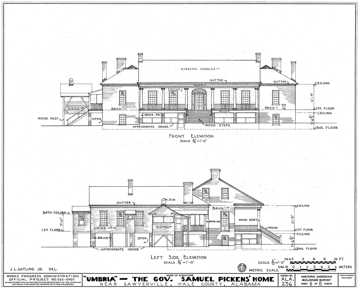 architectural drawing 7342