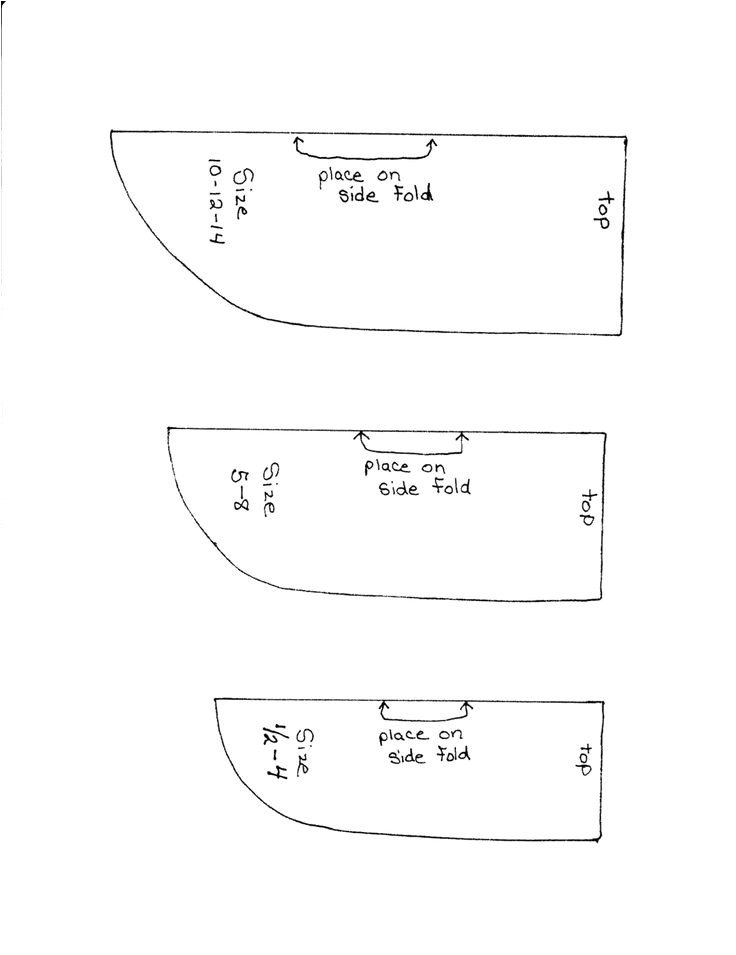 Armhole Template for Pillowcase Dress Sew Delightful Sizing Chart Arm Hole Sizes for the