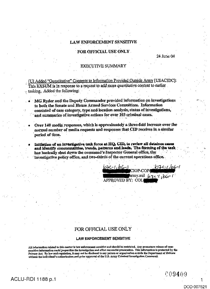 army memo re executive summary reforms detainee operations pdf page 1