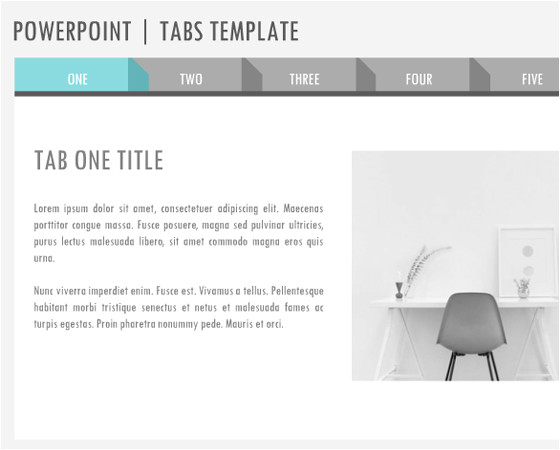 powerpoint tabs template 3