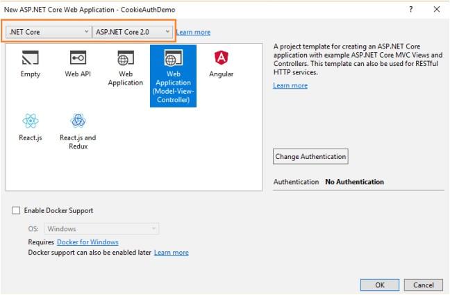 asp net menu templates cookie authentication with asp net core 2 0 dzone security