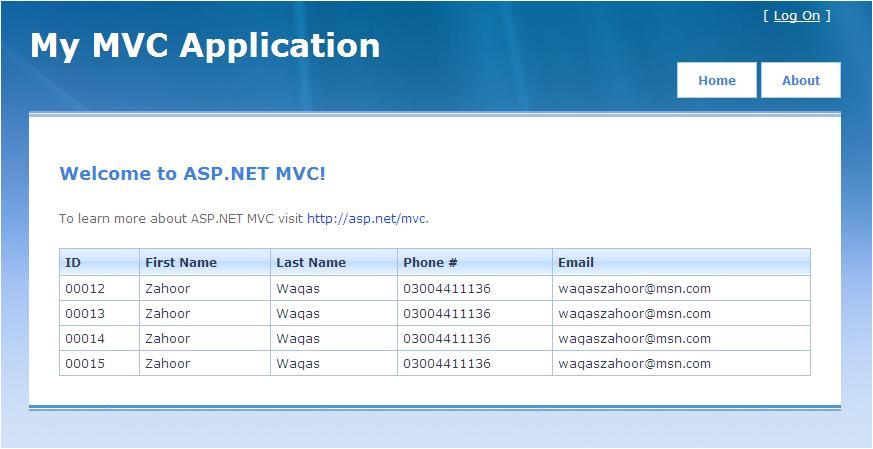 asp net mvc design template