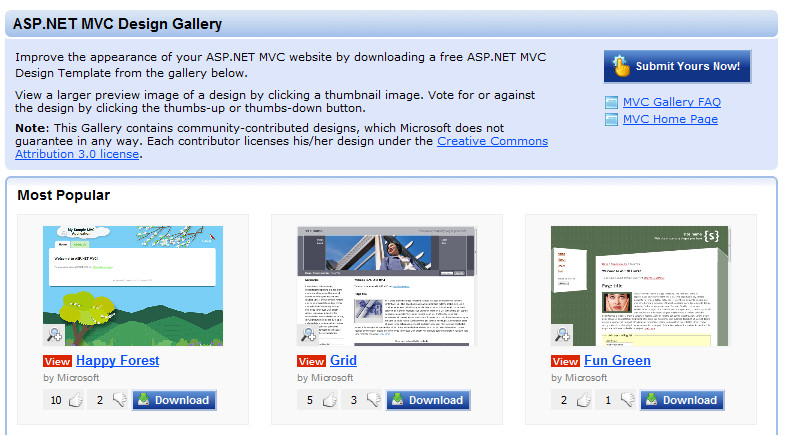 asp net mvc design gallery and upcoming view improvements with the asp net mvc release candidate