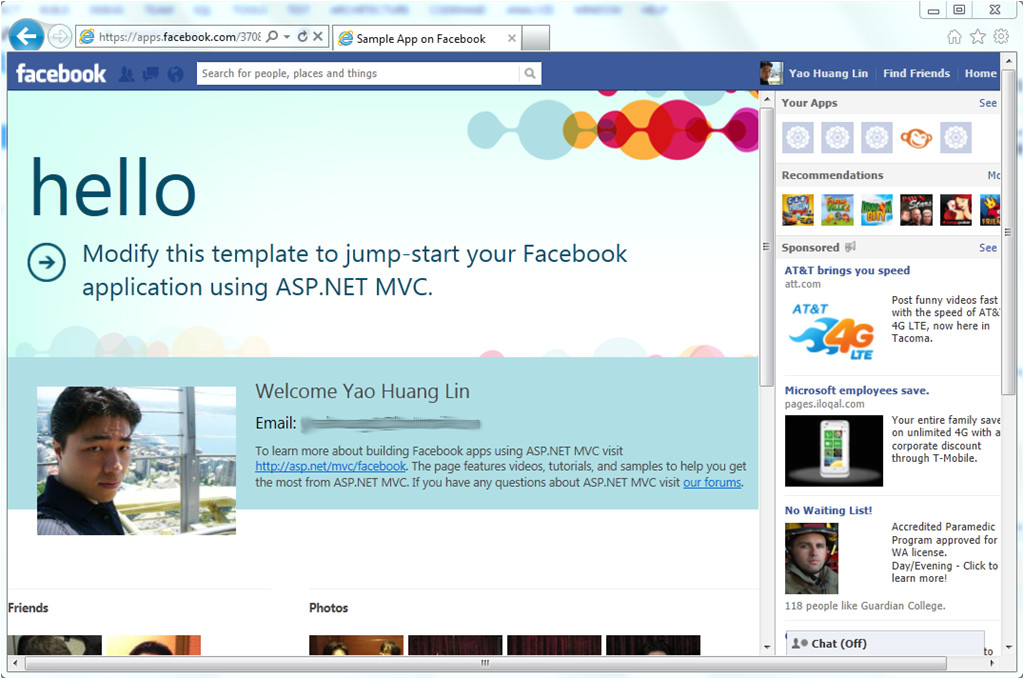 Aspx Net Templates the New Facebook Application Template and Library for asp