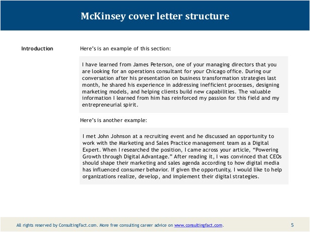 management consultancy cover letter