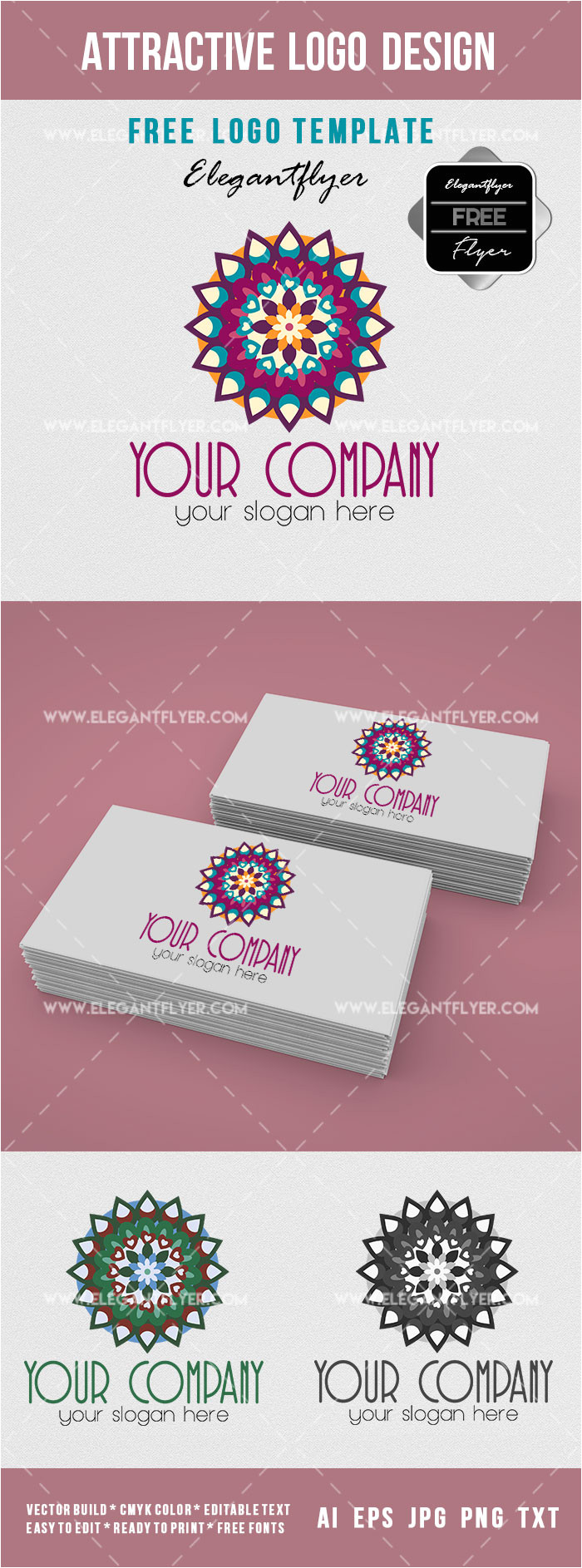 attractive design logotype free logo template