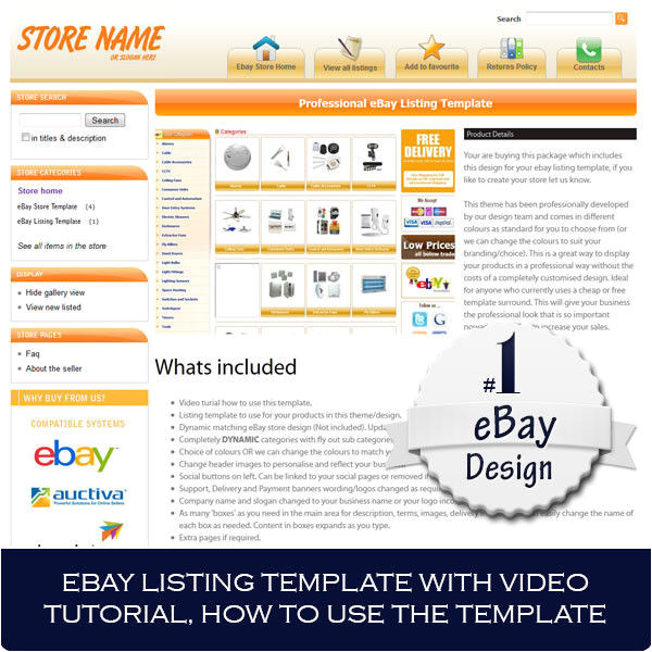 Auctiva Template Ebay Store and Listing Template Design Auctiva Inkfrog