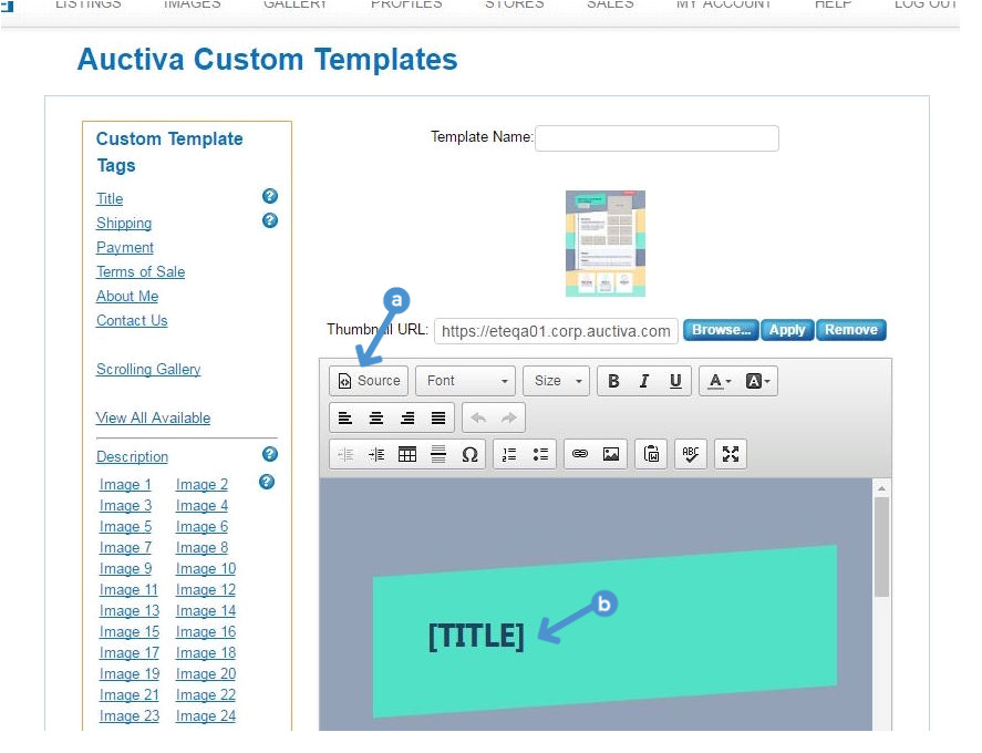 tutorial id customize listing template