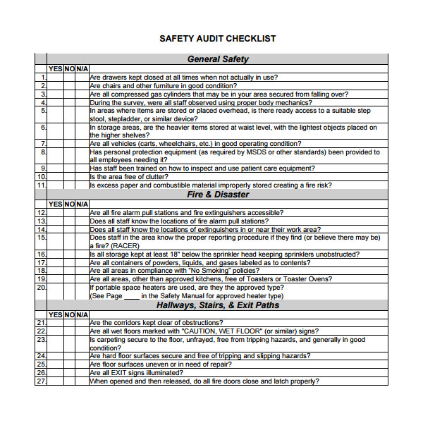 Audit Templates Checklists 13 Audit Checklist Templates Pdf Word Excel Pages