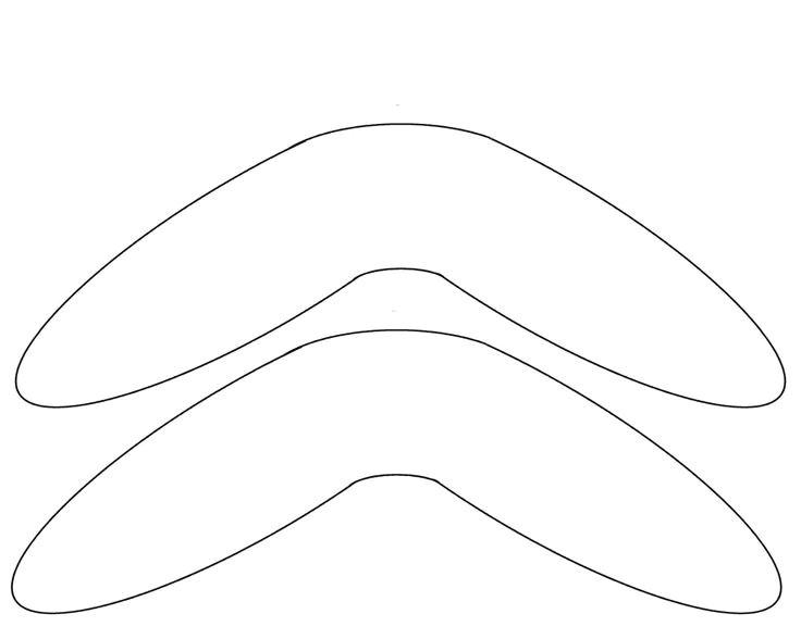Australian Boomerang Template Boomerang Template Free to Use Printables Pinterest