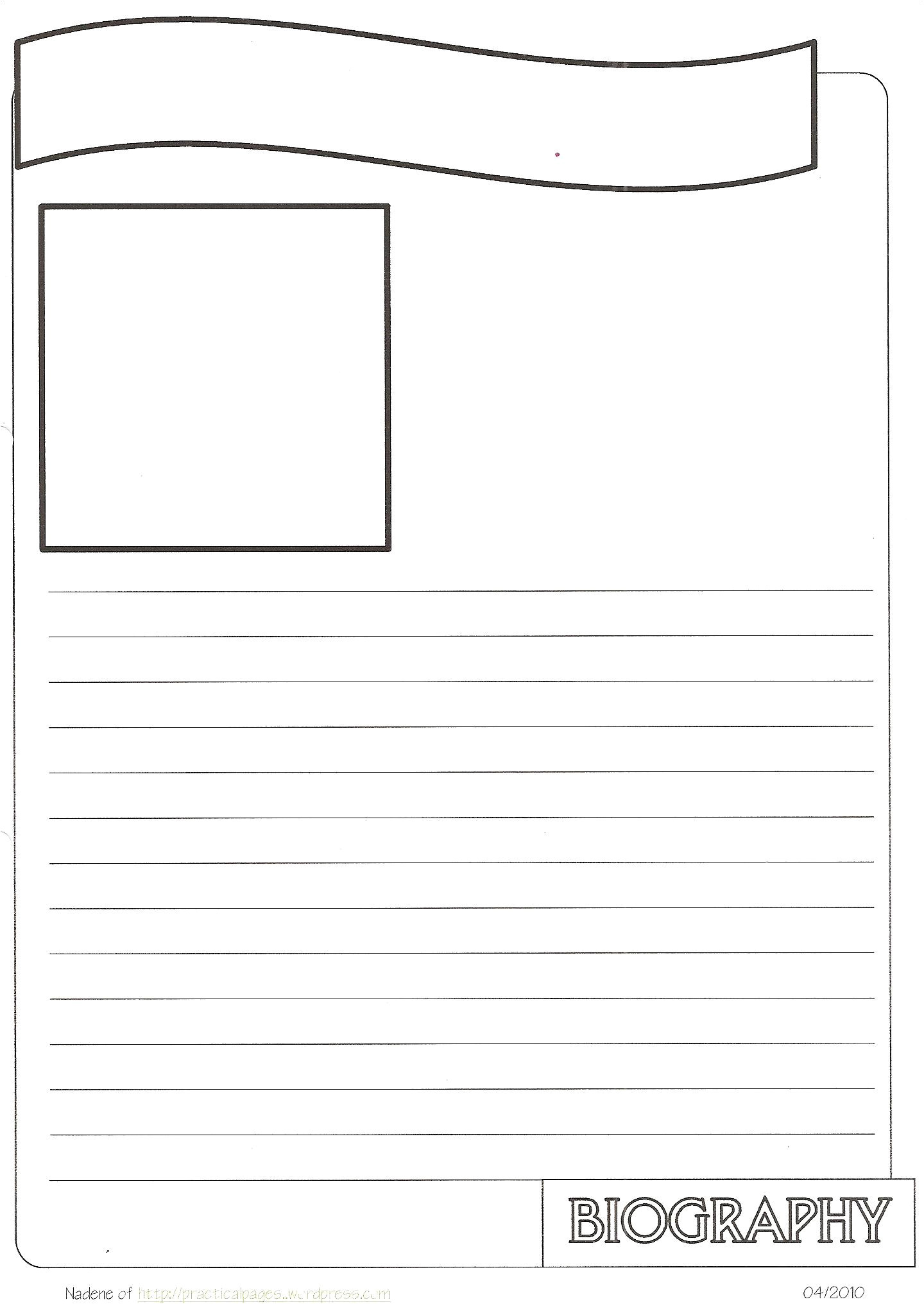 project cover page template