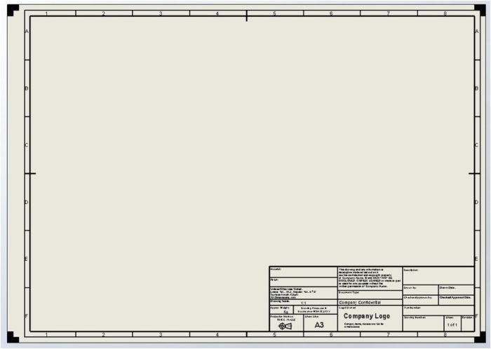 Autocad Templates Free Dwg Autocad Mechanical Drawing Templates Free Download