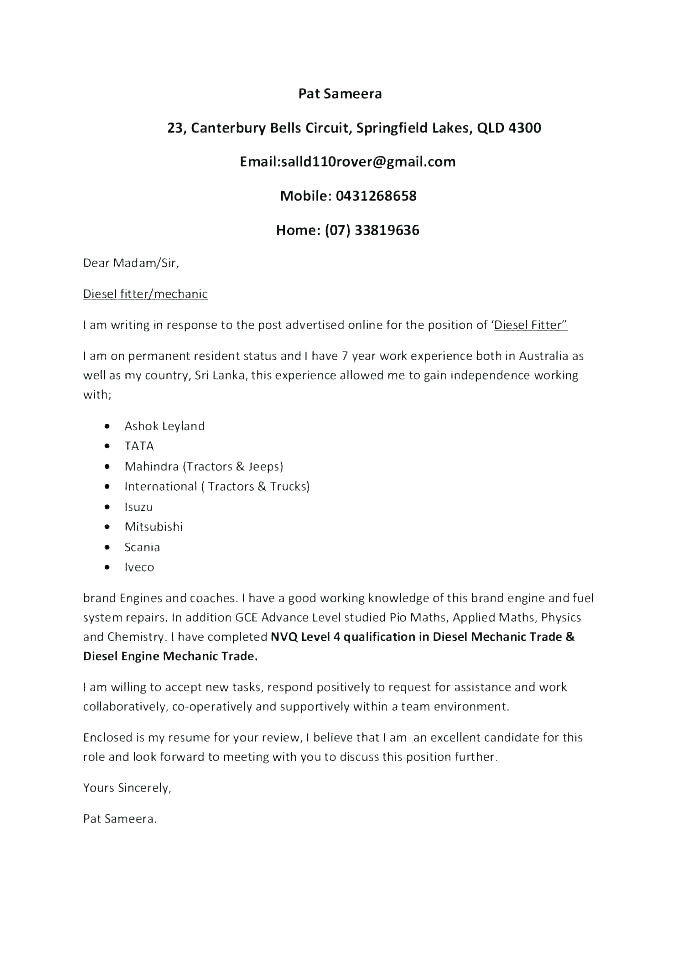 auto cover letter generator