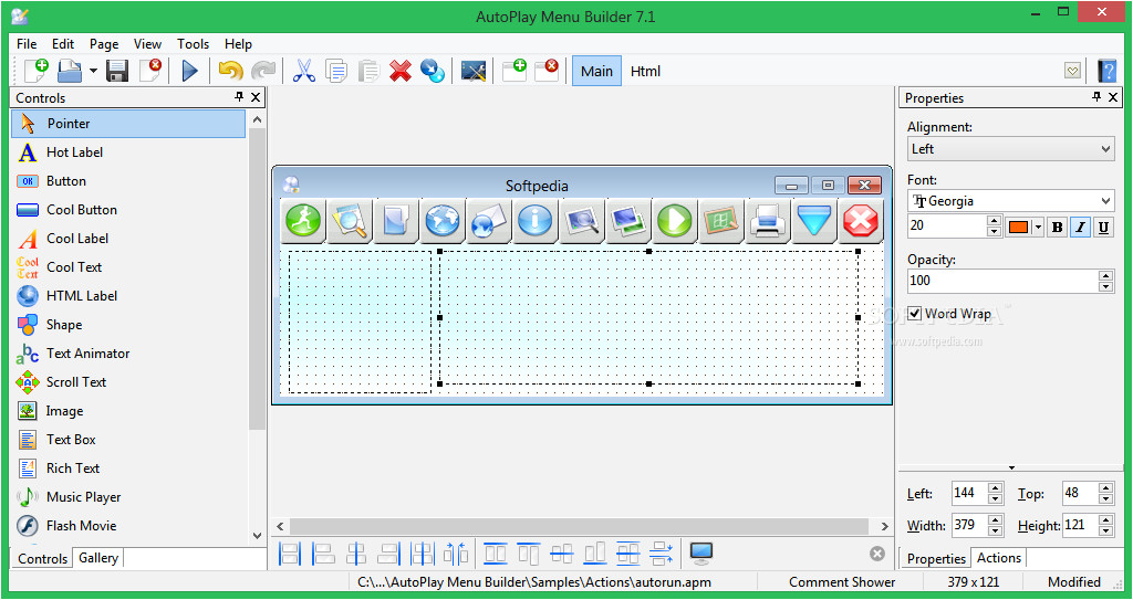 autoplay menu builder shtml