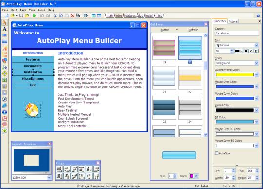 autoplay menu builder templates