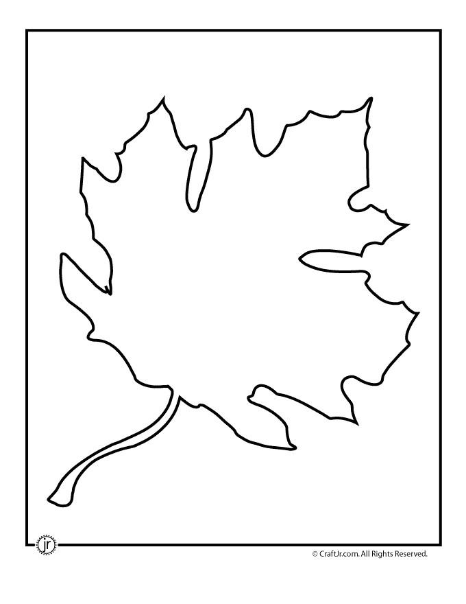 oak leaf template printable
