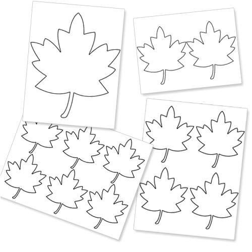 printable fall leaf template